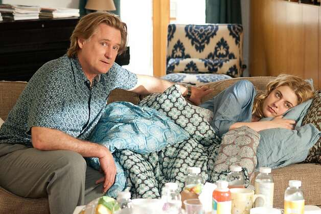 "Bill Pullman as ""Lenny"" and Greta Gerwig as ""Lola"" on the set of LOLA VERSUS. Photo: Myles Aronowitz, Fox Searchlight"