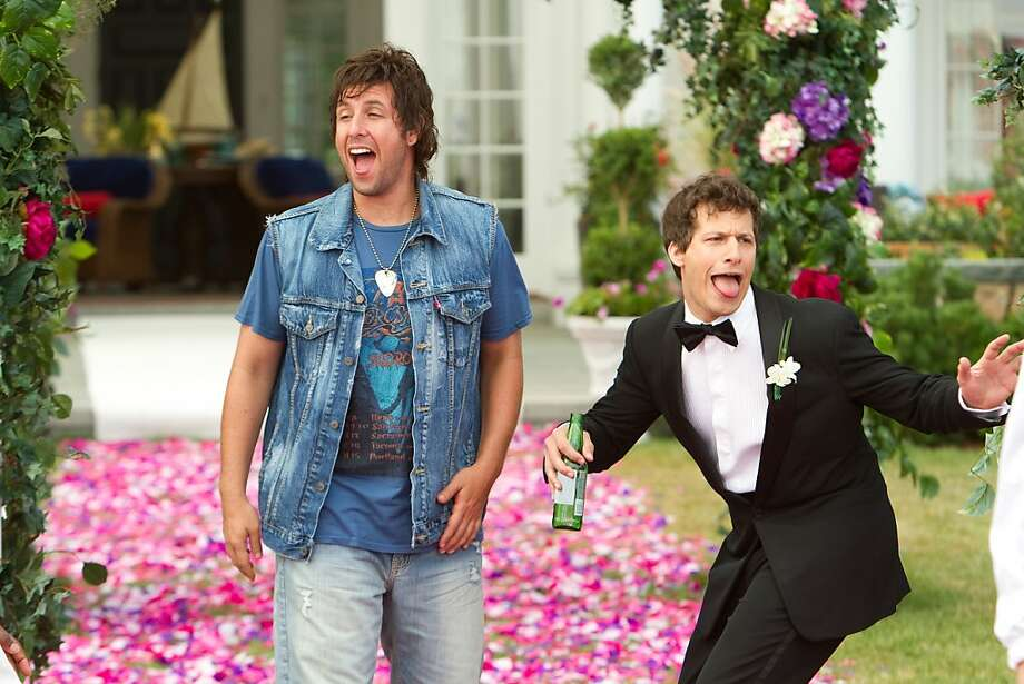 Donny Berger (Adam Sandler) and Todd Peterson (Andy Samberg) in Columbia Pictures' comedy THAT'S MY BOY. Photo: Tracy Bennett, Sony Pictures
