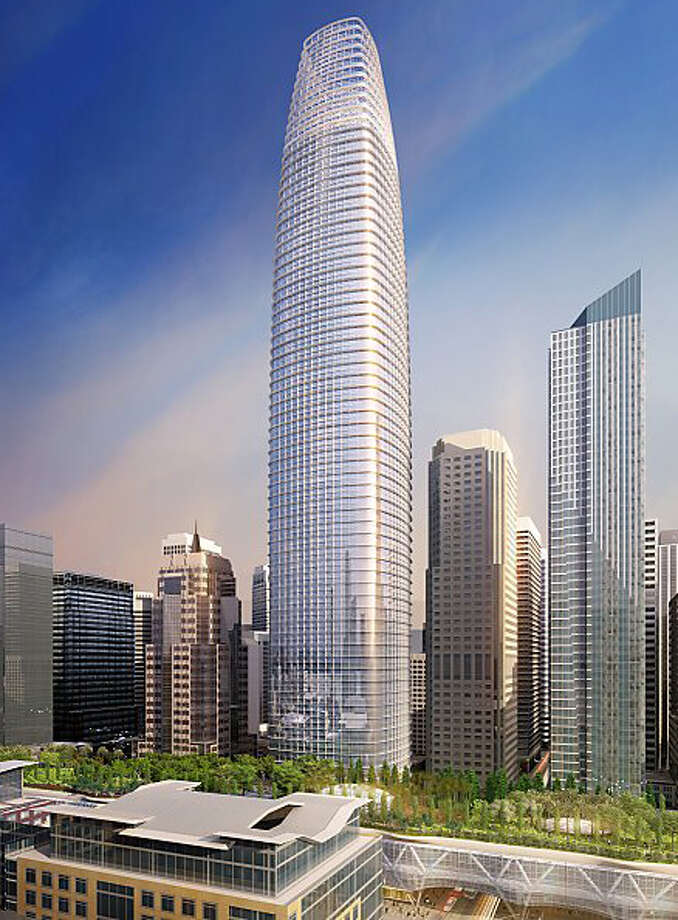 But developers have proposed a new 1,070 tower that would become the tallest building in San Francisco, California and the West Coast. Photo: Pelli Clarke Pelli
