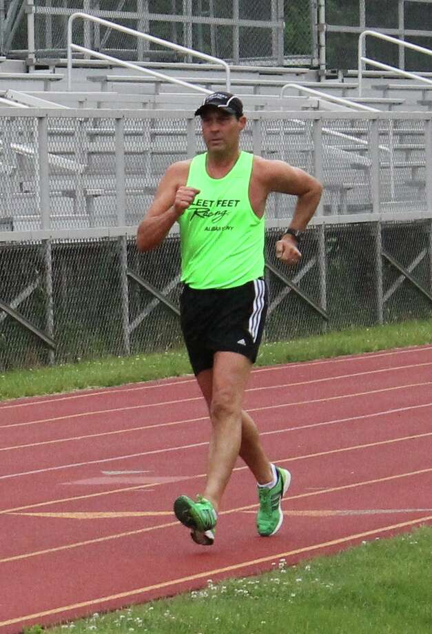 Don Lawrence, director of walking for Fleet Feet Sports in Albany and an international race walking competitor, wants more people to experience the joys of race walking. (Photo by Jennifer Lawrence)