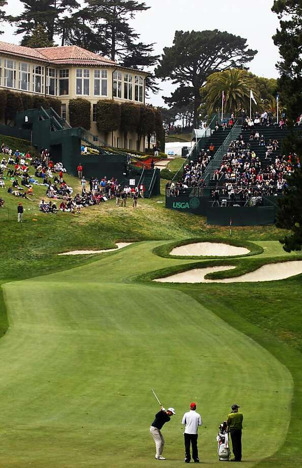 Padraig Harrington plays the 18th hole on the eve of the 112th U.S. Open at The Olympic Club on June 13, 2012 in Daly City, California. Photo: Lance Iversen, The Chronicle