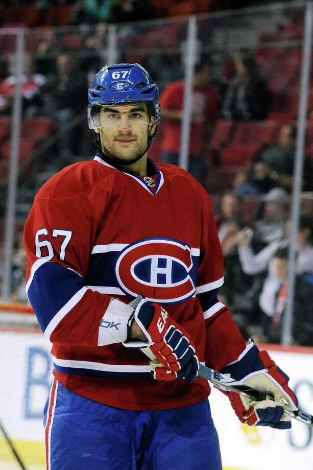 MONTREAL, CANADA - MARCH 23:  Max Pacioretty #67 of the Montreal Canadiens skates during the warm up period prior to facing the Ottawa Senators in their NHL game at the Bell Centre on March 23, 2012 in Montreal, Quebec, Canada.  The Canadiens defeated the Senators 5-1.  (Photo by Richard Wolowicz/Getty Images) Photo: Richard Wolowicz, Getty Images / 2012 Getty Images