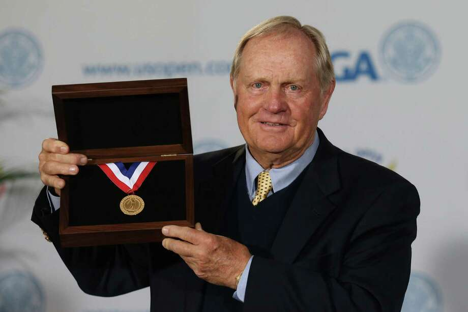 SAN FRANCISCO, CA - JUNE 13:  Jack Nicklaus poses with the newly named USGA Jack Nicklaus gold medal to be awarded to the US Open Champion starting in 2012 at a ceremony to honor Nicklaus's contributions to the game of golf prior to the start of the 112th U.S. Open at The Olympic Club on June 13, 2012 in San Francisco, California.  (Photo by David Cannon/Getty Images) Photo: David Cannon / 2012 Getty Images