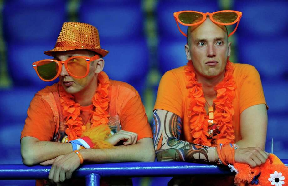 A 2-1 loss to Germany was no treat for Dutch fans, who have seen their team lose both Euro games. Photo: Manu Fernandez / AP
