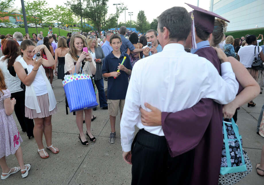 Scenes from the Bethel High School graduation at the O'Neill Center at Western Connecticut State University's westside campus on Wednesday, June 13, 2012. Photo: Jason Rearick / The News-Times