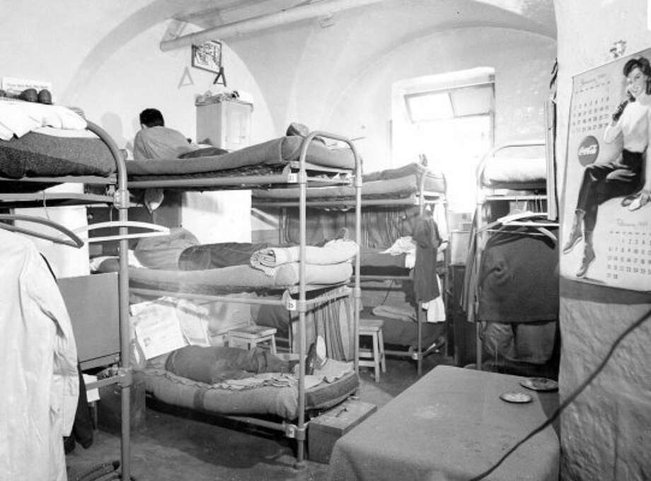 March 13, 1949: Inmates rest in triple bunks at San Quentin. This accompanied an article in the Chronicle about prison overcrowding. (Duke Downey / The Chronicle)