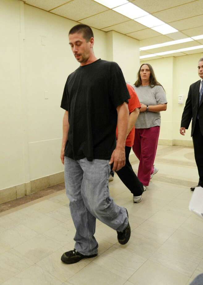 James Maxan enters the Schenectady County Court in Schenectady, N.Y. June 14, 2012 after his ex-wife's ex-boyfriend John Batease refused to take a plea for the allegedly causing the death of the his son Asiah Maxan.   (Skip Dickstein / Times Union) Photo: SKIP DICKSTEIN / 00018092A