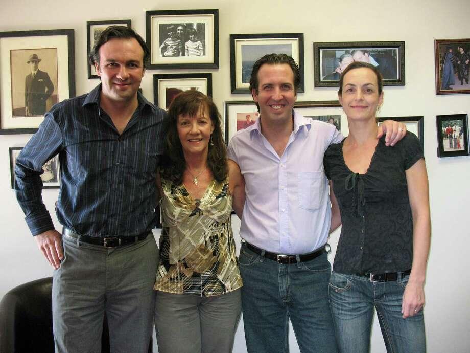 The Ciorciari family (from left) Juan Manuel, Cookie, Luciano and Sylvia. Photo: LUZ MORENO-LOZANO, SAN ANTONIO EXPRESS-NEWS / SAN ANTONIO EXPRESS-NEWS