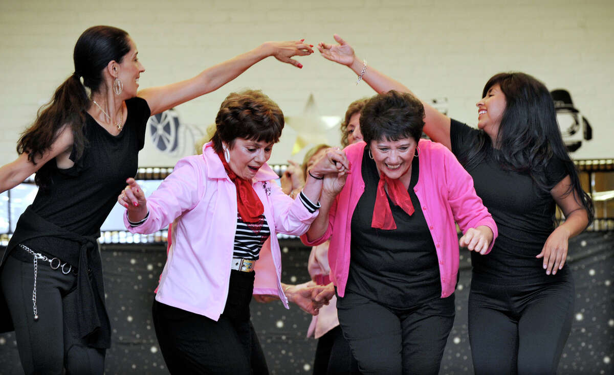 Zumba dancers perform a medley of songs from the movie,
