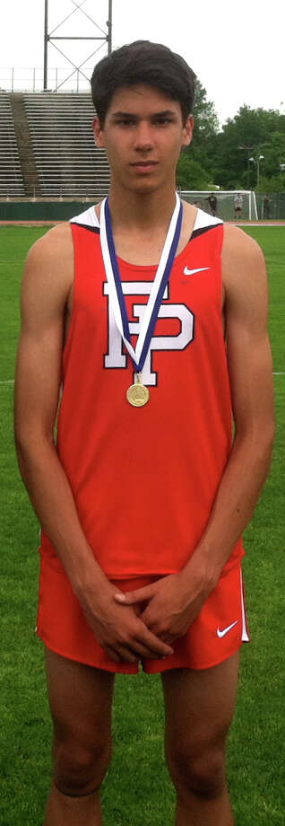 Fairfield Prep's Christian Alvarado was the 3,000-meter winner at Wednesday's Steeplechase meet in New Britain. Photo: Contributed Photo