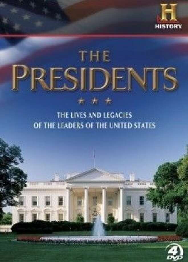 dvd box cover: THE PRESIDENTS Photo: A&E Home Video