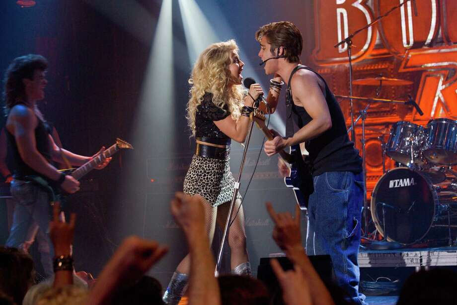 David James/Warner Bros. Entertainment  (L-r) JULIANNE HOUGH as Sherrie Christian and DIEGO BONETA as Drew Boley in New Line Cinema?s rock musical ?ROCK OF AGES,? a Warner Bros. Pictures release. Photo: David James / © 2012 Warner Bros. Entertainment Inc.  All Rights Reserved.