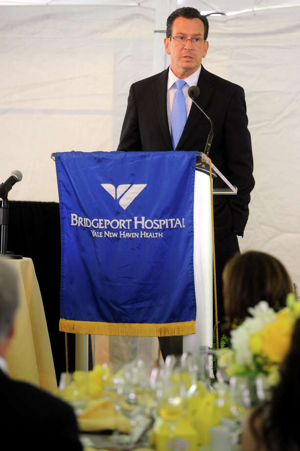 Gov. Dannel P. Malloy speaks at The Norma F. Pfriem Breast Care Center's annual Rose of Hope luncheon in Fairfield, Conn. June 14th, 2012. Photo: Ned Gerard / Connecticut Post