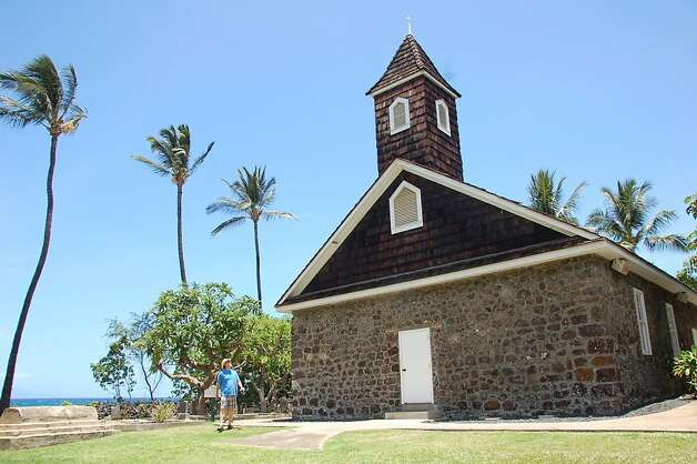 "Keawala'i Congregational Church  , built with pili grass when it was founded as the Church of Honua'ula in 1832 in Makena, was later rebuilt as a stone and wood church, using coral collected nearby to make the mortar. Known for its legacy of Hawaiian kahu, or ministers, and Hawaiian-language choirs, in modern times the church ""has made a commitment to maintain Hawaiian tradition and culture,"" according to its mission statement. Photo: Jeanne Cooper, Special To SFGate"