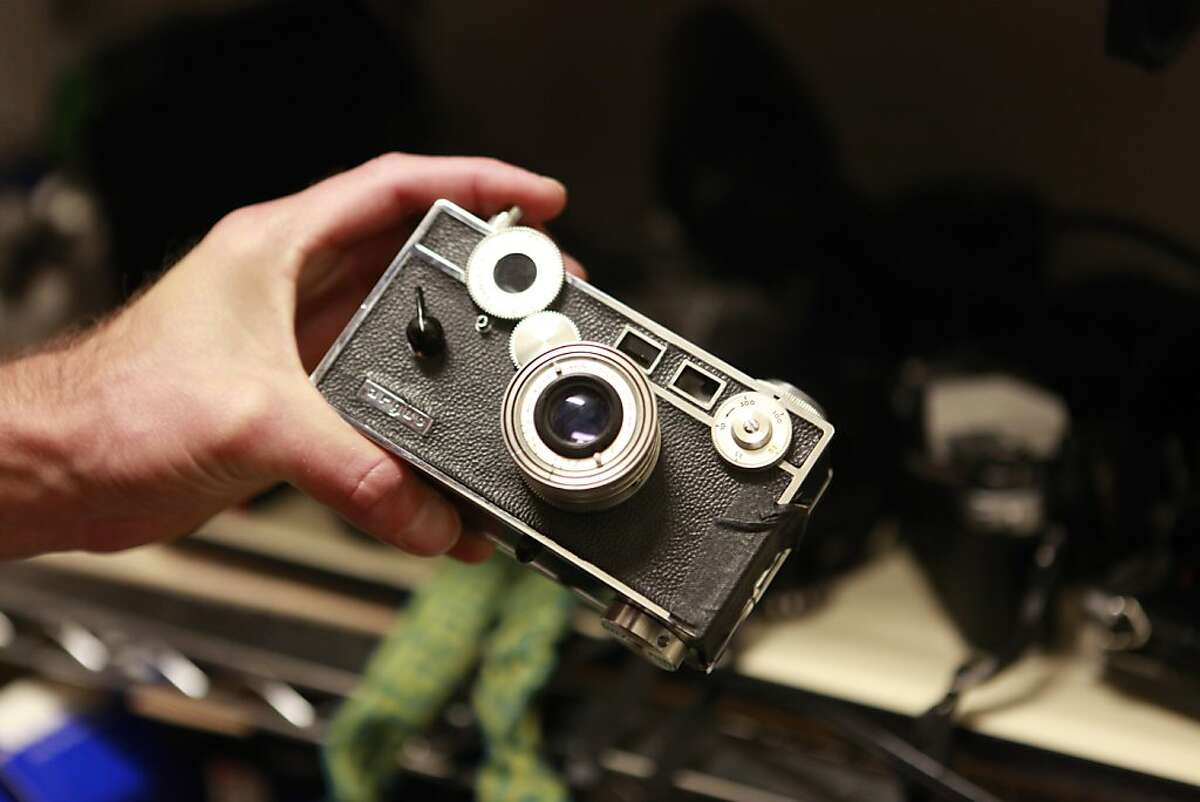 The Harvey Milk Photo Center is one of the oldest public darkrooms in the country, and collects old cameras and other equipment on Thursday, June 7th, 2012 in San Francisco, Calif.