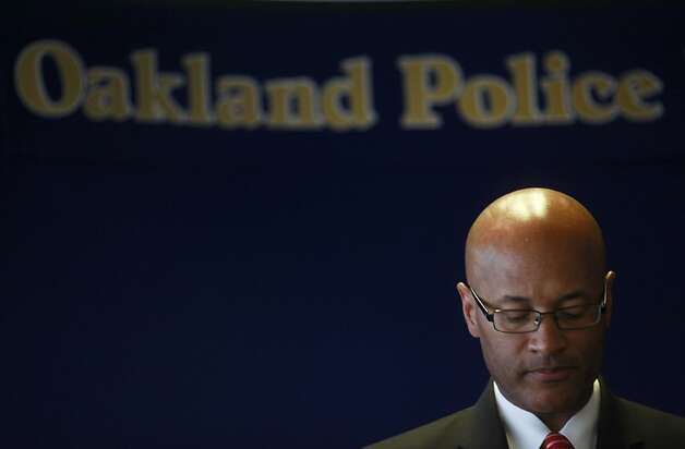 "Oakland Police Chief, Howard Jordan speaks during a press conference on Thursday June 14, 2012 in Oakland, Calif.,  announcing the findings from a 121 page outside report commissioned into the handling of the Occupy protest from last year. Chief Jordan said, ""It is clear to me that our approach was flawed."" Photo: Mike Kepka, The Chronicle"
