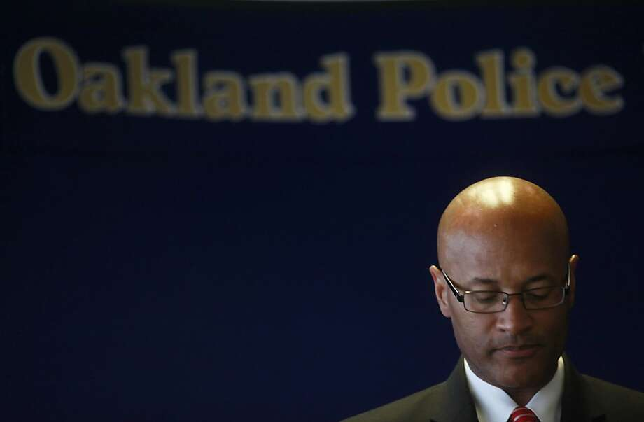 In this file photo, Oakland Police Chief, Howard Jordan speaks during a press conference. Photo: Mike Kepka, The Chronicle