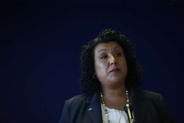 OaklandCity Administrator Deanna Santana  speaks during a press conference on Thursday June 14, 2012 in Oakland, Calif.,  announcing the findings from a 121 page outside report commissioned into the handling of the Occupy protest from last year. Photo: Mike Kepka, The Chronicle