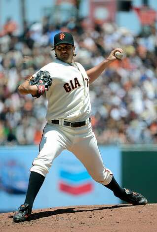 SAN FRANCISCO, CA - JUNE 14:  Barry Zito #75 of the San Francisco Giants pitches against the Houston Astros at AT&T Park on June 14, 2012 in San Francisco, California.  (Photo by Thearon W. Henderson/Getty Images) Photo: Thearon W. Henderson, Getty Images