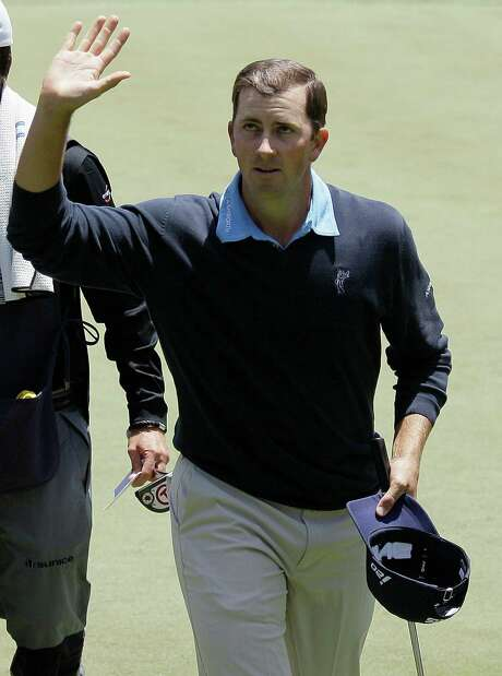 Michael Thompson waves after making a birdie on the 18th hole during the first round of the U.S. Open Championship golf tournament Thursday, June 14, 2012, at The Olympic Club in San Francisco. Photo: AP