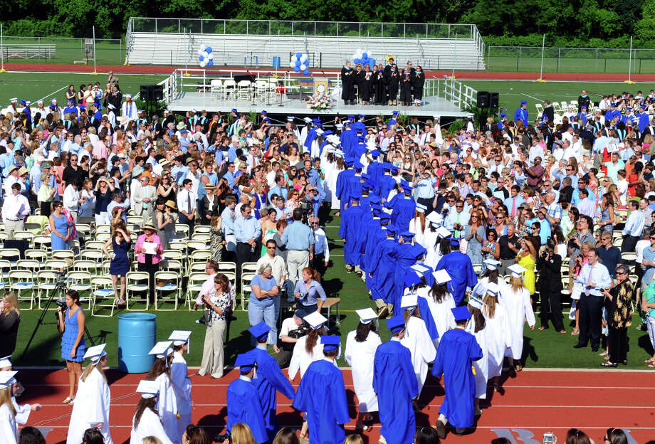 Highlights from Darien High School's Class of 2012 Commencement Ceremony in Darien, Conn. on Thursday June 14, 2012. Photo: Christian Abraham / Connecticut Post