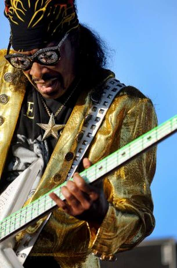 Funk bassist Bootsy Collins performs at Alive at Five on Thursday, June 14, 2012, at Riverfront Park in Albany, N.Y. (Cindy Schultz / Times Union) (Albany Times Union)