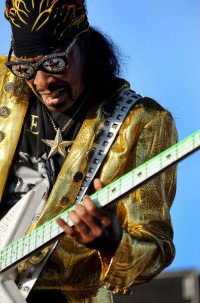 Funk bassist Bootsy Collins performs at Alive at Five on Thursday, June 14, 2012, at Riverfront Park