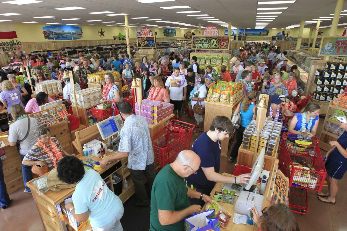 Trader Joe's doesn't have an internal PA system, and instead uses bells. One bell means a new register is needed, two bells means someone needs assistance at checkout and three bells means a manager is needed.