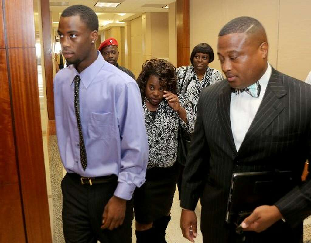 174th district court case 1430835 - Chad Holley With His Mother Joyce Holley And Quanell X Enters The 178th Court In