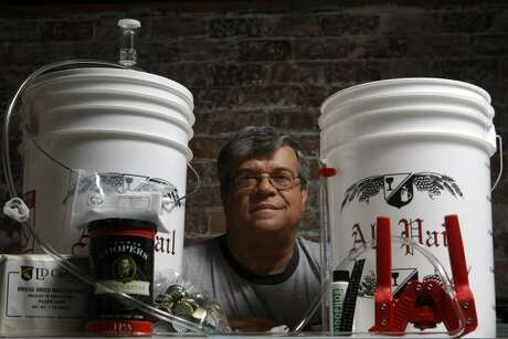 Has Dad not taken the plunge yet and tried his hand at homebrewing? Scott Birdwell of Defalco's Home Wine & Beer Supplies on Stella Link can get him set up. (Julio Cortez / Houston Chronicle)