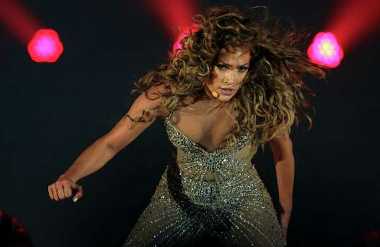 "Singer Jennifer Lopez performs during a concert, part of her ""Dance Again Tour"" in Panama City, Thursday, June 14, 2012. Photo: Arnulfo Franco, AP / AP"
