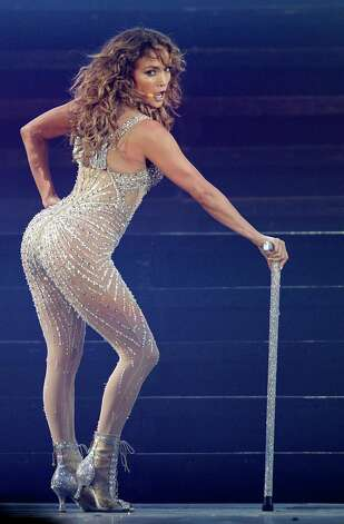 "Singer Jennifer Lopez performs in her ""Dance Again"" world tour that kicked off in Panama City, Thursday, June 14, 2012. Photo: Arnulfo Franco, AP / AP"