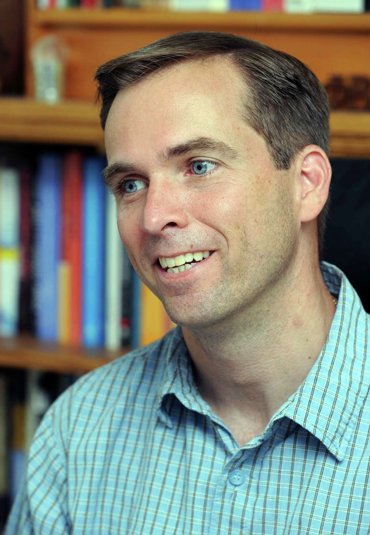 WestConn professor Chris Kukk. Photographed at his home on Monday, July 26, 2010.