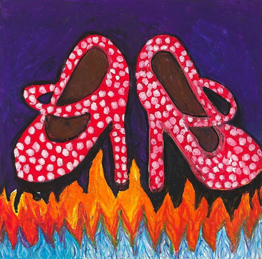 """Camille Holvoet's """"Shoes on Fire"""" is part of Creativity Explored's celebration of the Fabulous. Photo: Camille Holvoet"""