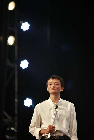 "Jack Ma, chief executive officer of Alibaba Group Holdings Ltd., speaks during the 2011 AliFest in Hangzhou, Zhejiang Province, China, on Saturday, Sept. 10, 2011. Alibaba started its search service last year to ""cause sleepless nights"" for Baidu Inc., the industry leader, Ma said. Photo: Qilai Shen, Bloomberg"