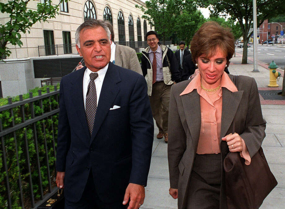 Albert Pirro and his wife, Westchester County District Attorney  Jeanine Pirro, leave court at the end of the day in White Plains, N.Y., Monday, June 19, 2000. The federal tax evasion case against Albert Pirro went to the jury Monday afternoon after a month-long trial and two hours of instructions in the law. (AP Photo/Stephen Chernin) Photo: STEPHEN CHERNIN, ASSOCIATED PRESS / Associated Press