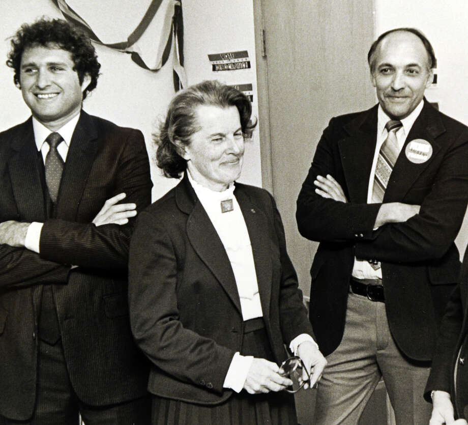 Ruth Sims, shown here in 1979, the first female first selectman of Greenwich and the first Democrat to claim the office in 75 years, died June 7, 2012, in Princeton, N.J. Ruth Leiserson Sims served two terms as first selectman, beginning in 1977, and was a Riverside resident with her husband Albert for nearly 50 years. Photo: Greenwich Time File Photo / Greenwich Time