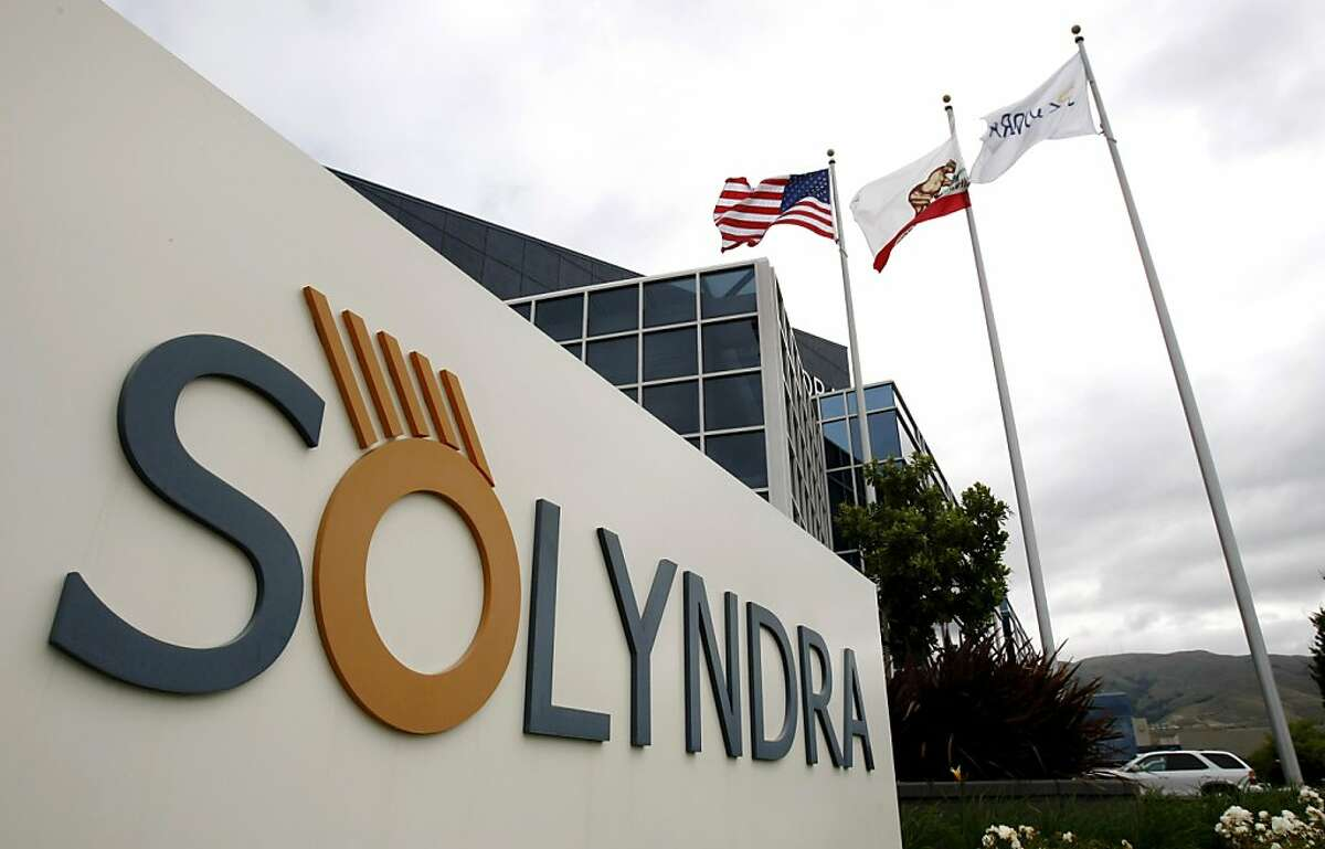 FILE - This May 24, 2010 file photo show the exterior of Solyndra Inc. in Fremont, Calif. The government could lose nearly $3 billion on Energy Department loans for green energy programs _ far less than the $10 billion Congress set aside for the high-risk program, according to an independent review. The White House ordered the review after criticism of a $528 million loan to Solyndra Inc., a California solar company that went bankrupt. (AP Photo/Paul Sakuma, File)