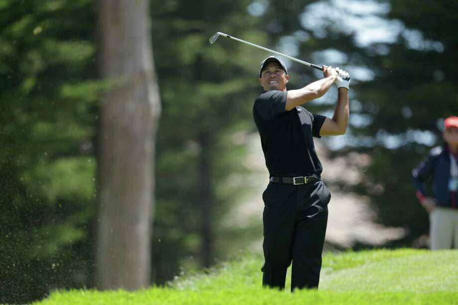 Tiger Woods during the second round of the U.S. Open Championship golf tournament Friday, June 15, 2012, at The Olympic Club in San Francisco. (AP Photo/Ben Margot) Photo: Ben Margot, Associated Press / AP