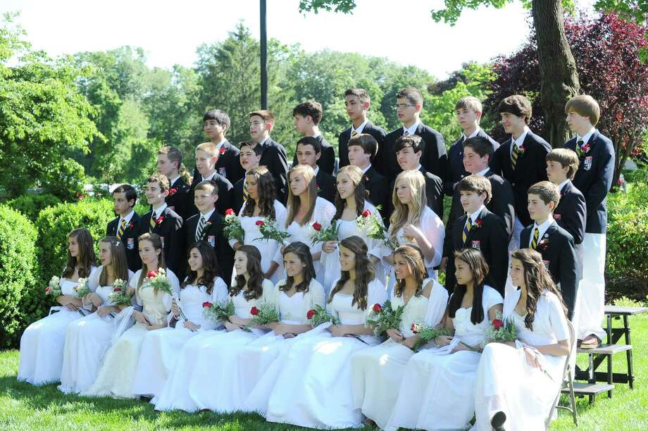 The Greenwich Catholic School eighth grade graduation class of 2012 at the school, Friday, June 15, 2012. Photo: Bob Luckey / Greenwich Time