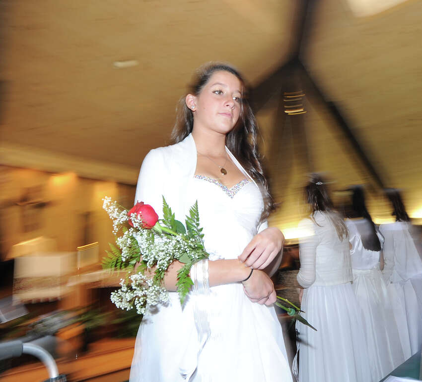 Brittany Marie Rosato during the Greenwich Catholic School eighth grade graduation at the school, Friday, June 15, 2012.