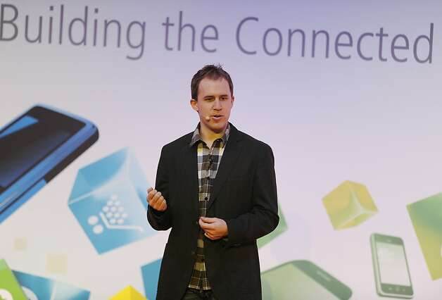 Bret Taylor, chief technology officer of Facebook Inc., speaks during a keynote speech on the opening day of the Mobile World Congress in Barcelona, Spain, on Monday, Feb. 27, 2012. The Mobile World Congress, operated by the GSMA, expects 60,000 visitors and 1400 companies to attend the four-day technology industry event which runs Feb. 27 through March 1. Photographer: Denis Doyle/Bloomberg *** Local Caption *** Bret Taylor Photo: Denis Doyle, Bloomberg