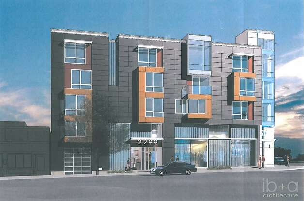 18 rental units above proposed 3,300 square foot Bank of the West branch at 2299 Market Street. Photo: AM McCarthy Engineering