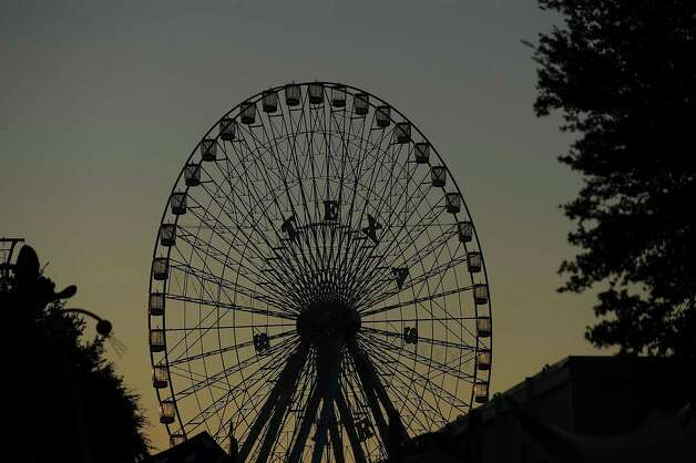 At 212 feet tall, the Texas Star is North America's biggest Ferris wheel. It comes out once a year for the Texas state fair. Photo: Ronald Martinez, Getty Images / 2009 Getty Images