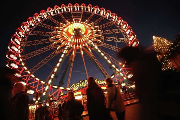 Beautifully illuminated Ferris wheels are big part of Germany's tradition of Christmas markets. Here's one in Berlin. Photo: Sean Gallup, Getty Images / 2011 Getty Images