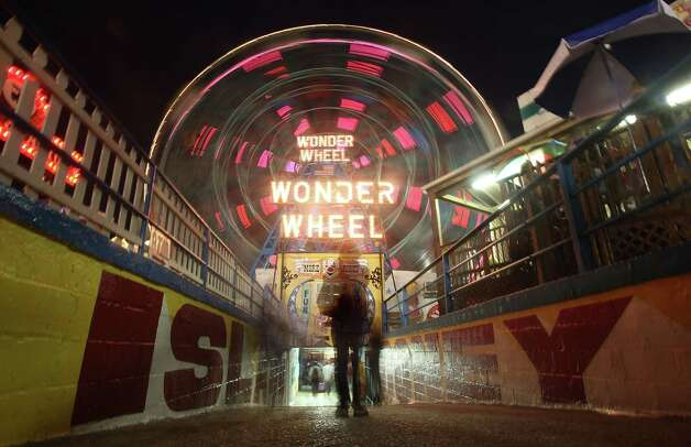 Coney Island's Wonder Wheel is seen during on the opening day of Luna Park in 2010, which replaced the aging Astroland amusement park. The Wonder Wheel opened in 1920. It's 150 feet tall. Photo: Mario Tama, Getty Images / 2010 Getty Images
