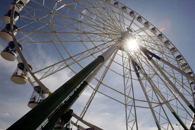 "The ""Baghdad Eye,"" opened in 2011 in the city's Al-Zawraa Park, is the second tallest Ferris wheel in the Middle East. It's 180 feet. Photo: SABAH ARAR, AFP/Getty Images / 2011 AFP"