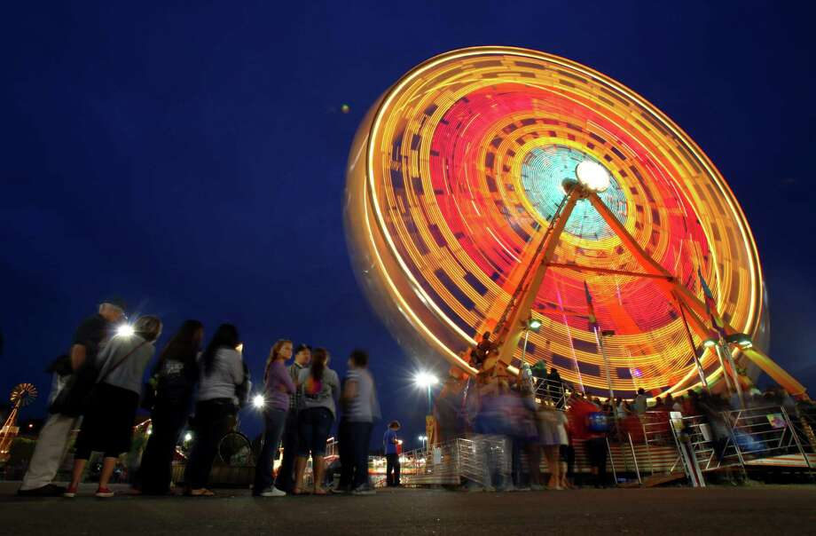 On a smaller scale, here's the Ferris wheel at the Puyallup Fair in Puyallup,Wash., in September 2012 Photo: JOSHUA TRUJILLO / SEATTLEPI.COM