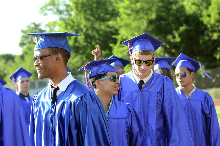The fifty-first commencement excercises at Brien McMahon High School in Norwalk on Friday, June 15, 2012. Photo: Amy Mortensen / Connecticut Post Freelance