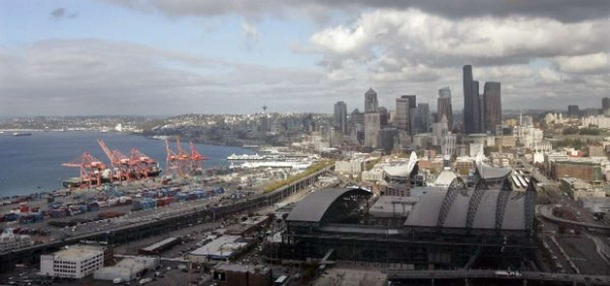 A proposed arena for Sodo would be located just south of the Safeco Field parking garage, in an area already shared by sports and shipping traffic.